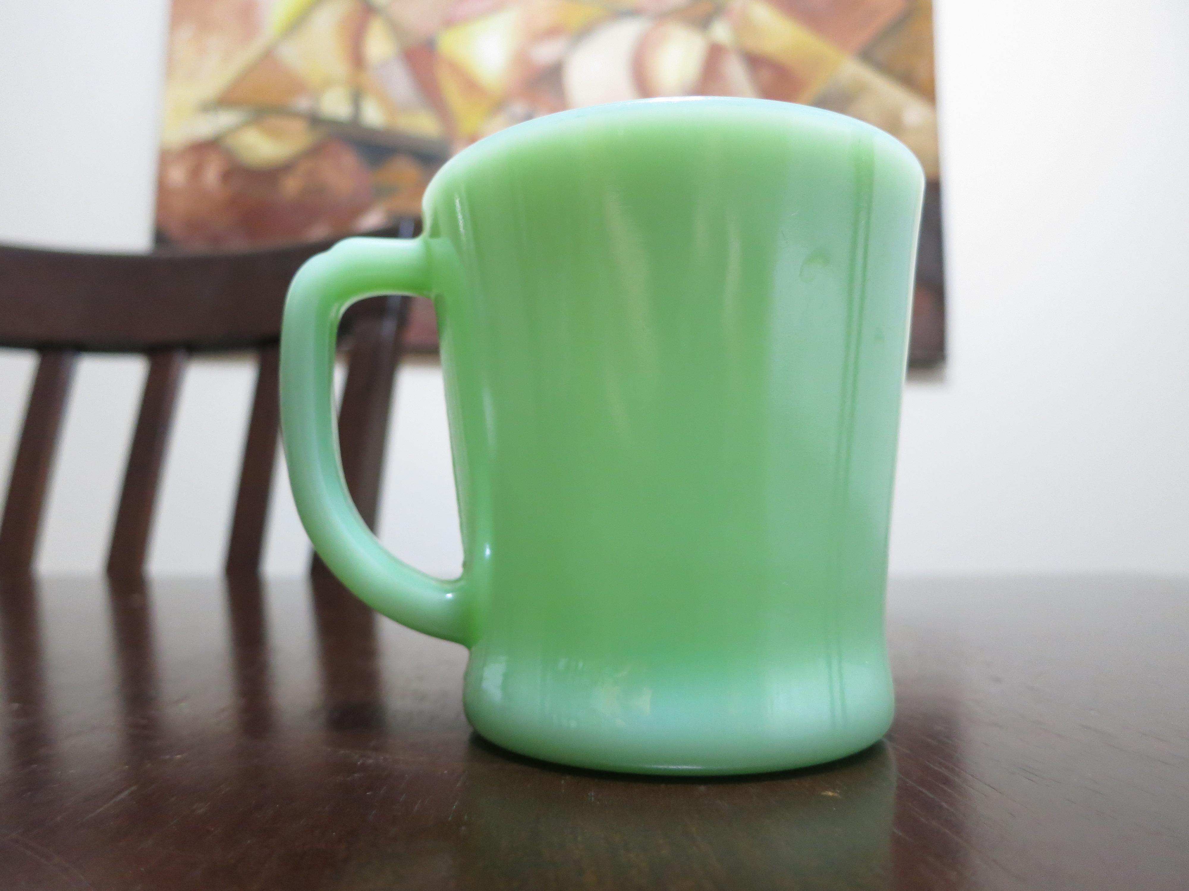 Jade Ite D Handle Fire King Mug Fire King Mug